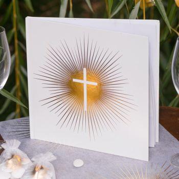 Goldenes Buch Dekor Kommunion