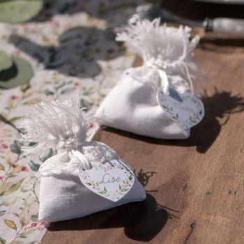 4 Beutel Baumwolle Weiß