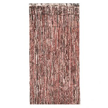 Metallic-Fransen-Vorhang gold rosa