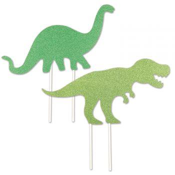 Cake topper Dinosaurier Glitzer