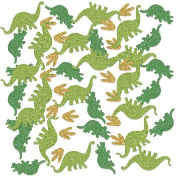 Glitzerte Konfetti Dinosaurier
