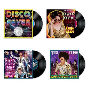 4 Disco-Plattencover-Dekors