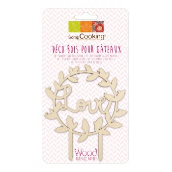 Cake Topper aus Holz Love Scrapcooking