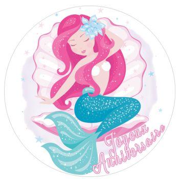 Tortenaufleger dekor Meerjungfrau
