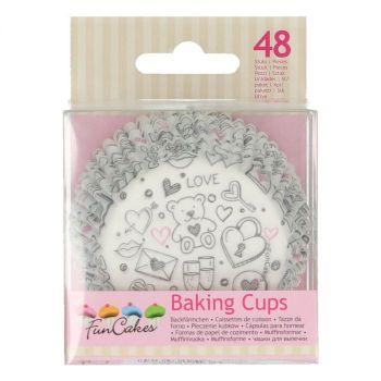 48 backförmchen Cupcakes Love Teddybär