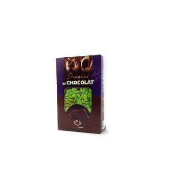 Dragees mini Herz Schokolade glänzend Grün anis 500gr