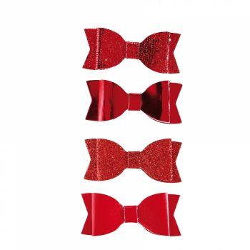 4 passende rote Knoten