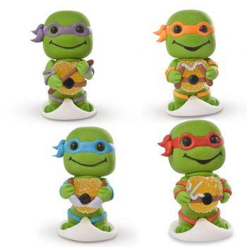 4 Gelifizierte Ninja-Schildkröten mit Zucker