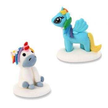 2 Meine kleine Pony-Figuren aus Zucker