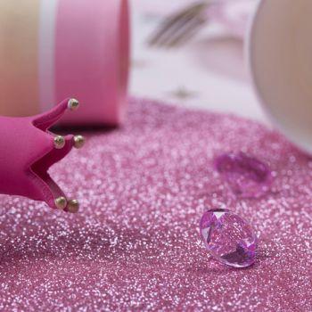 Pink glitzernde Tischpfad