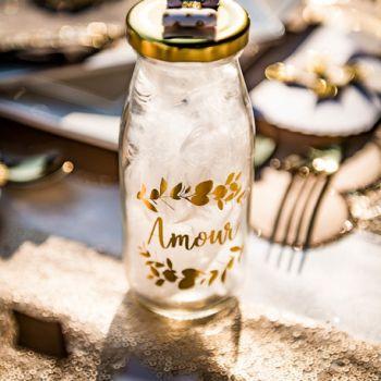 Flasche candy Bar Liebe Gold