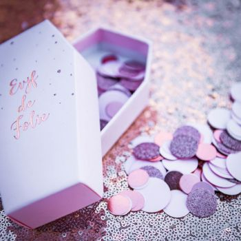 Konfetti rosa gold und Glitzer rosa 14gr