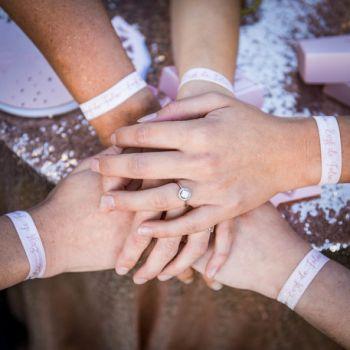 8 Verrückte EVJF Rosa Armbänder