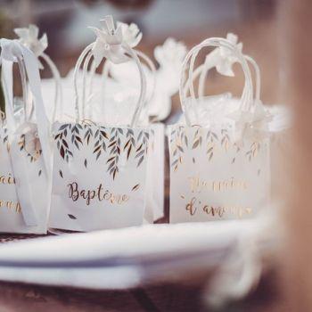 6 Mini-Geschenktüten Bärgold
