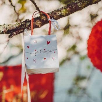 6 Mini-Geschenktaschen ich liebe dich vergolden