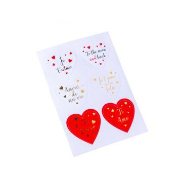 Sortiment 24 Sticker Herz Liebe Ø5cm