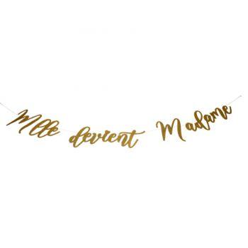 Girlande Melle wird Madame rosa gold