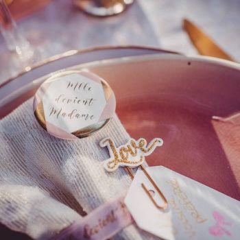 8 Abzeichen Melle wird Madame rosa gold
