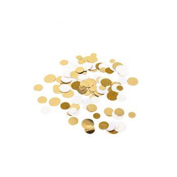 Konfetti Elfenbein Gold und Glitzer gold14gr