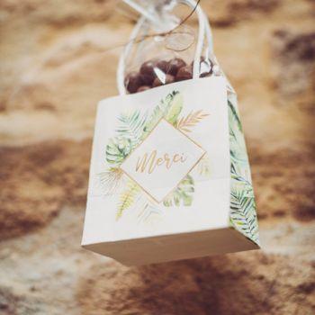 6 Mini-Geschenkbeutel dank tropischen Vergoldung