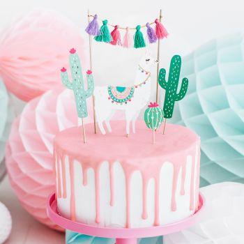 Cake toppers Lama Kaktus