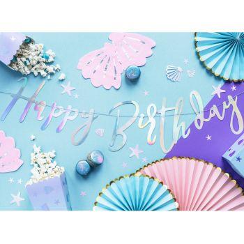 Happy Birthday Irisiert Girlande