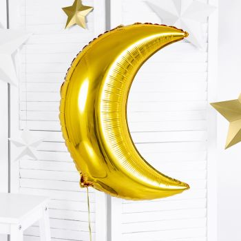 Metallic Ballon Gold Mond 60cm