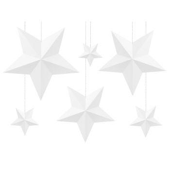 6 Weiße Sterne