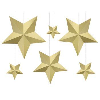 6 Gitter Sterne Gold
