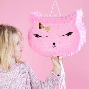 Pinata Katzenkopf rosa