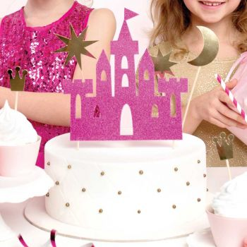 Kit cake topper 4 Pics Prinzessin gold