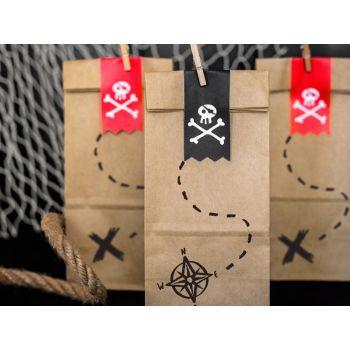 6 Süßigkeiten beutel aus Piraten Kraft
