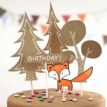 Cake toppers woodland