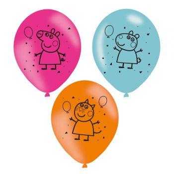 6 Ballons peppa wutz