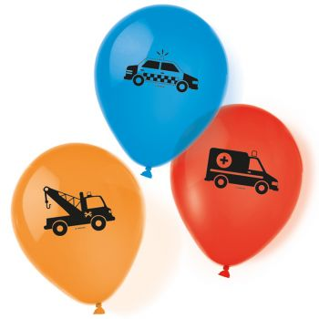 6 Ballons auf der Straße