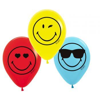 6 Ballons Smiley