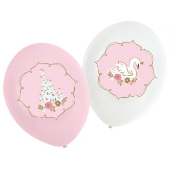 6 Ballons Prinzessinnen des Tages