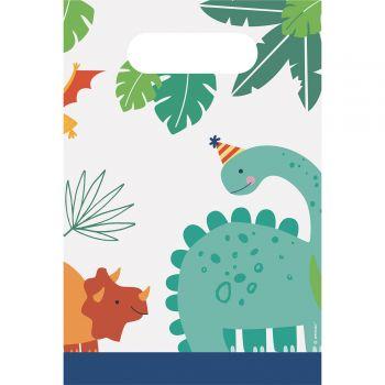8 Festtaschen aus festes Dino-Papier