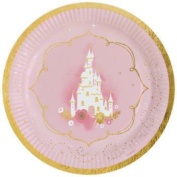8 Pappteller Prinzessin des Tages
