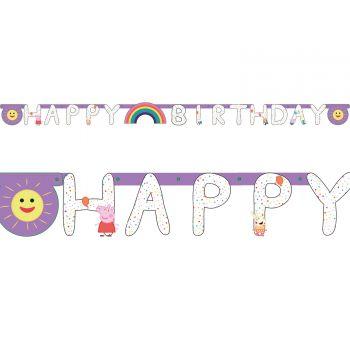 Banner Happy Birthday peppa wutz