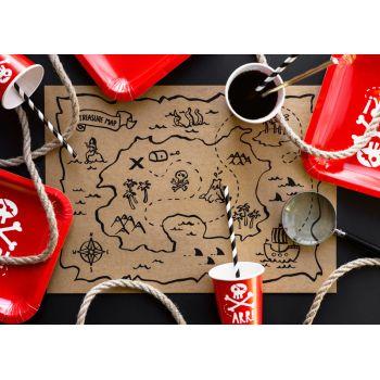 6 Tabelle Set Piraten Karte