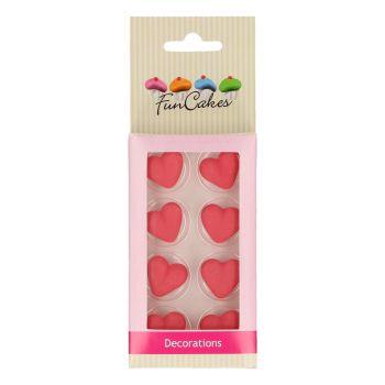 8 Dekore aus rotem Herz-Zucker Funcakes