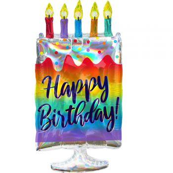 Helium-Ballon Kuchen Happy Birthday 76cm
