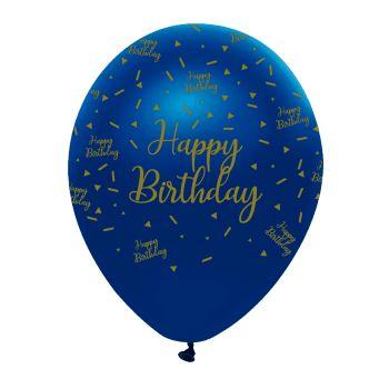 6 Luftballons Navy gold