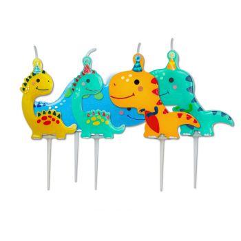 5 Dinosaurier Pics Kerzen