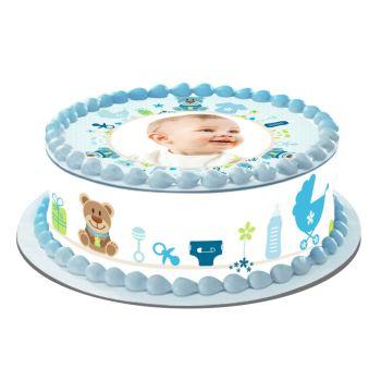 Easycake Kit für personalisierte Baby-Kuchen Blau
