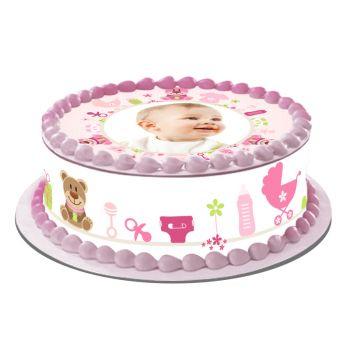 Easycake Kit für personalisierte Kuchen Baby Rose