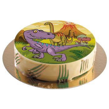 Tortenaufleger dekor Dinosaurier 20cm