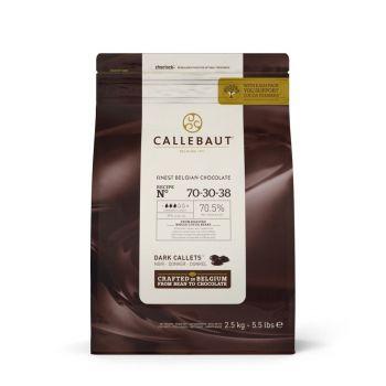 2.5 KG Schokoladen-Galet extra schwarz Callebaut