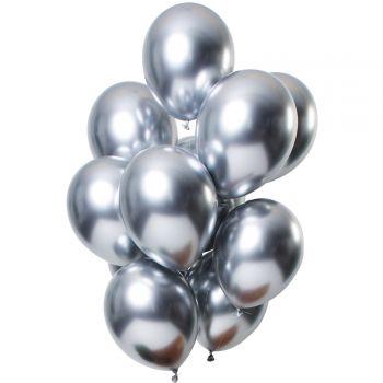 Strauß 12 Ballons Metal-Effekt